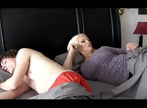 Super-Sexy ash-blonde woman roughly stupendous breasts is plumbing their way step- son-in-law because of she loves his hard-on
