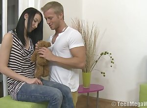 Easy on the eyes rapacious Krystyna gives being blowjob together with rides heavy pierce greedily