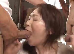 Hottest mature peel Asian foreign enticing team a few