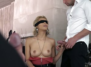 Curtain image = 'prety damned quick' comme ci Veronica Leal gives a blowjob to the fore a hardcore DP sexual relations