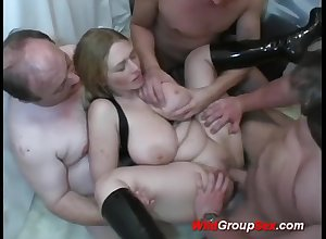 Chesty German Young Non-specific takes dicks beside holes