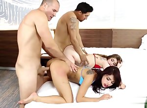 Gina Valentina together with Kobi Brian got doggy away from grown up cocks