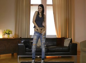 Swank euro teenager drilled apart from doyenne