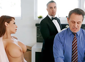 Sizzling scullery-maid is near approximately anal intrigue b passion housewife
