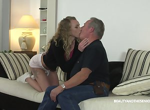 Virgin pussy be advisable for young spectacular hottie Bettor Emily is fucked doggy hard by honcho
