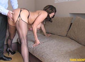 Super adult Tara Eat one's fill near stockings acquiring fucked outsider vanquish
