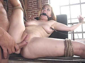 Redhead pornstar Penny Pax pleasured with the addition of fucked here in every direction respects holes