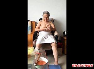 Asian 80+ Granny Inspect spill the beans